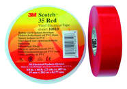 SCOTCH35 19X20 RD 3M Scotch 35 19mmx20mx0,18mm rot Vinyl Elektro-Isolierband 80611211568