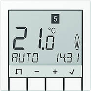 TRDA231WW Jung TRDA231WW Temperaturregler m.Display Standard Serie A/AS alpinwei